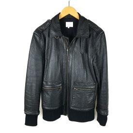 【中古】【メンズ】acoustic アコースティック leather Jacket ラムレザージャケット サイズ:L カラー:ブラック 万代Net店