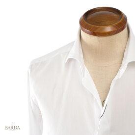 BARBA / DANDY LIFE 【バルバ ダンディーライフ】 コットン 高番手ツイル ホワイトシャツ ・mod. 401 ・art.LIU136591801U ・col. white (ホワイト) ・made in Italy イタリア製 【国内正規品】