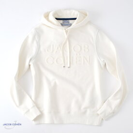 JACOB COHEN【ヤコブコーエン】J4097 スエットパーカー ・art. 02201L ・col. Bianco (ホワイト) ・made in Italy