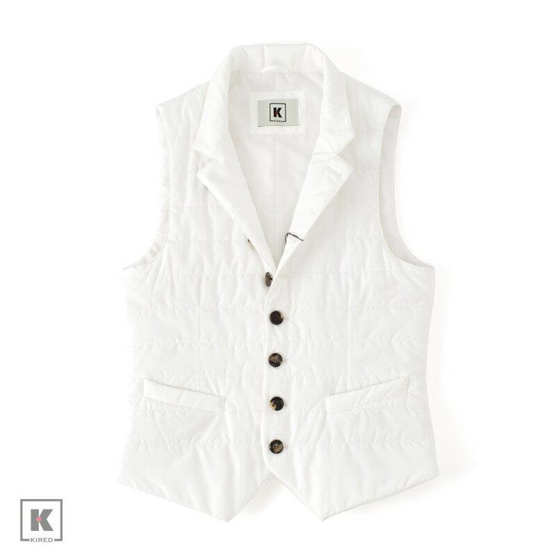 KIRED 【キーレッド】 インサレーション ジレ ・mod. JOAO ・art. 67125 ・col. white (ホワイト) 【春夏秋】