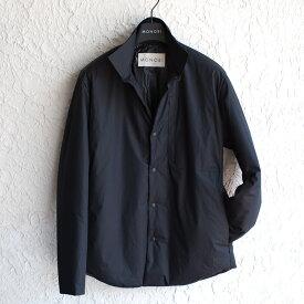 【 SALE30 】MONOBI 【モノビ】 インサレーション シャツブルゾン ・art. KENSINGTON OVERSHIRT ・col. BLACK (ブラック) ・made in Italy