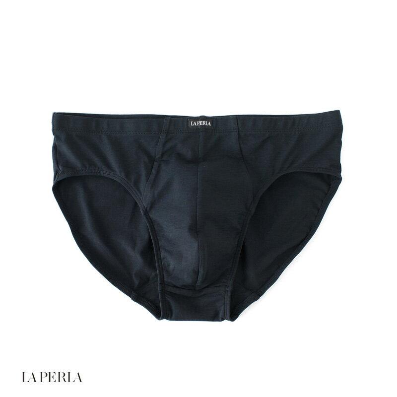 LA PERLA 【ラ ペルラ】 (Italy) D8 LP SKIN ブリーフ(細ゴム) ・art. P012963 ・col. Black (ブラック)
