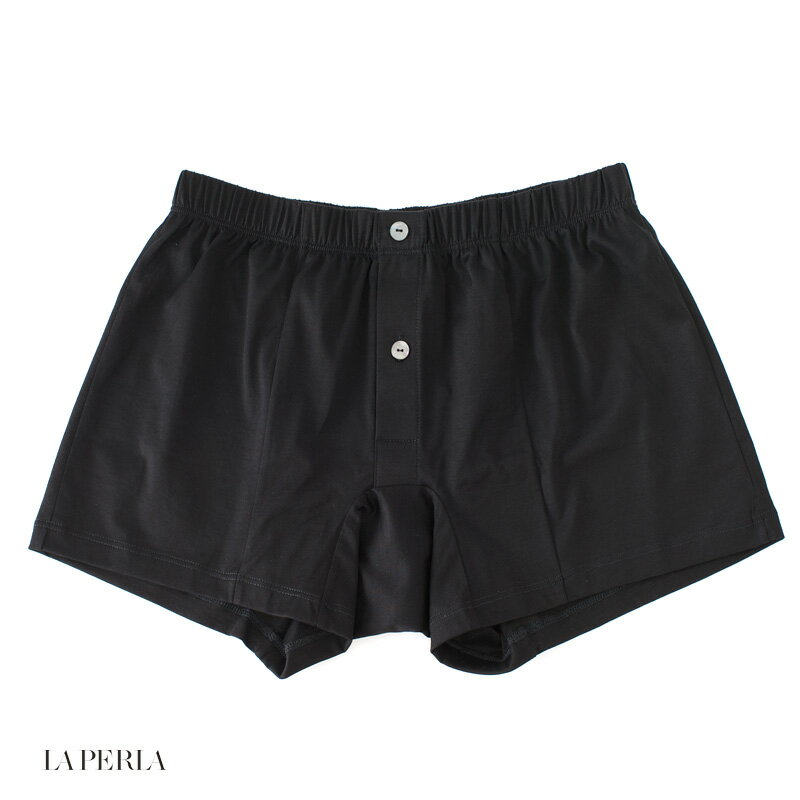 LA PERLA 【ラ ペルラ】 (Italy) N7 CLUB ボクサーブリーフ/ 前開き(FILODI SCOZIA コットン) ・art. 0020159 ・col. Black (ブラック)