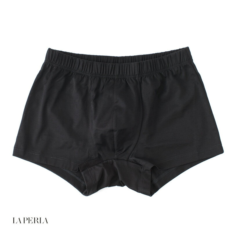 LA PERLA 【ラ ペルラ】 (Italy) N7 CLUB ボクサーブリーフ / 前閉じ(FILODI SCOZIA コットン) ・art. 0020150 ・col. Black (ブラック)