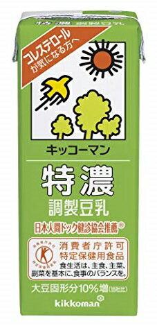 【猫】キッコーマン 特濃調製豆乳 1L紙パック 6本入×3ケースセット