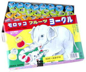 【猫】駄菓子 モロッコ フルーツヨーグル 60個入+10個付
