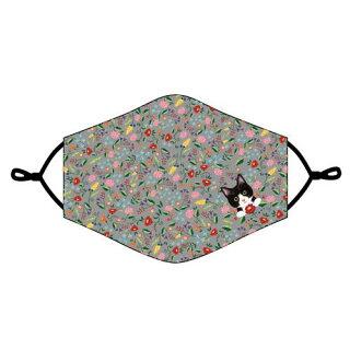 猫雑貨【フェリシモ猫部布マスク(グレー)】布マスクおしゃれかわいい洗える布マスクnews猫好きet送料無料