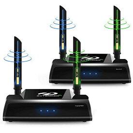 PAKITE PAT-590 ワイヤレスHDMI送受信機セット WUXGA/3D映像/1080P対応 最大150m無線伝送可能 赤外線リモコン対応 映像と音声を無線