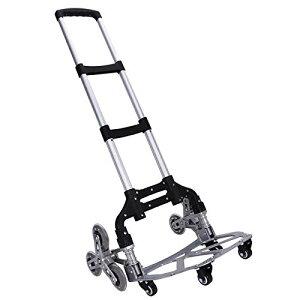 M.ZONE (10つの車輪) キャリーカート 階段 10輪 台車 折りたたみ 軽量 段差 4輪360度回転 静音 大型タイヤ バッグ付け 高さ調節 組み