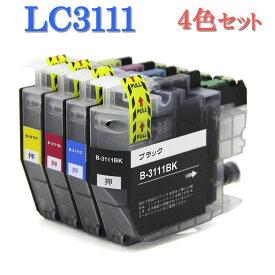 Brother ブラザー LC3111-4PK LC3111シリーズ 対応 互換インク LC3111BK LC3111C LC3111Y LC3111M 4色セット ICチップ付