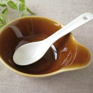【白いおかゆレンゲ引っ掛け】 (陶器スプーン) / お粥レンゲ れんげ 蓮華 デザートスプーン 小さめ蓮華 ミニレンゲ スープスプーン かわいい 白 陶磁器 おしゃれ 日本製