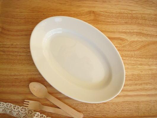 【DailyオーバルリムプレートM22.5cm】(ホテル食器,カフェ食器,レストラン食器,業務用,白い食器,楕円,ホワイト,デザートプレート,お皿)