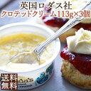 【英国の老舗ロダス社】<お得な大容量113g×3個セット>伝統製法による本物の味クロテッドクリーム<お料理やスコー…