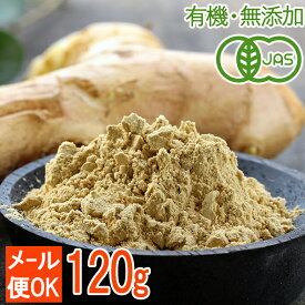 【メール便OK】オーガニックジンジャーパウダー120g(60g×2袋)生姜を皮ごと粉末に!しょうが粉末(有機JAS)