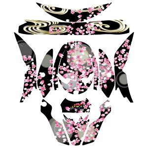 VFX-W用 ヘルメット デカール 和柄 桜/S/M/L 桜吹雪 和風 ステッカー 傷防止 かっこいい オフロード ショウエイ SHOEI モトクロス