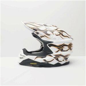 SHOEI VFX-WR MサイズLサイズ用 ヘルメット デカール ファイヤ? フレイム 白 ショウエイ オリジナル ステッカー カスタム 傷防止 キット