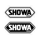 ちょっとおもしろステッカー『SHOWAうまれ』時代に対抗 ヘルメット SHOEI 9.8cm 1枚 パロディ ワンポイント 屋外