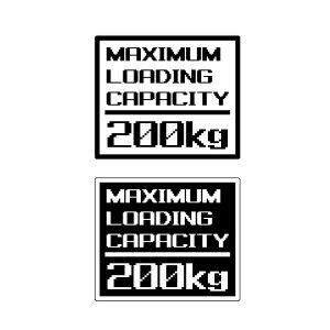 最大積載量ステッカー 重量 数字表記 変更可能 最大積載量 ステッカー ピクセル文字 英語 英字 白、黒 1枚物 ゲーム ジムニー 四駆 世田谷ベース ジープ おもしろ かわいい おしゃれ