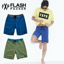 FLASH PACKER フラッシュパッカー メンズ ボードショーツ XSTR-SWITCH サーフトランクス サーフパンツ 水着 海パン ショートパンツ ハーフパンツ 膝上 総柄 水陸両用 ハイブリッド