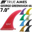 """ロングボード用センターフィン TRUE AMES GEORGE GREENOUGH 4A 7.0"""" トゥルーアームズフィン ジョージグリーノウ シングルフィン ..."""