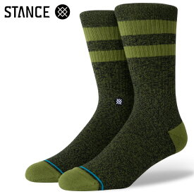 STANCE SOCKS スタンスソックス メンズ靴下 JOVEN - Green Black スケーターソックス ハイソックス メンズソックス 【あす楽対応】