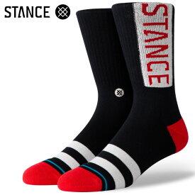 STANCE SOCKS スタンスソックス メンズ靴下 OG - Red スケーターソックス ハイソックス メンズソックス 【あす楽対応】
