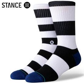 STANCE SOCKS スタンスソックス メンズ靴下 MARINER ST CREW - Black - Mix Match ミックスマッチ スケーターソックス ハイソックス メンズソックス 【あす楽対応】