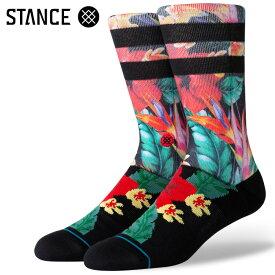 STANCE SOCKS スタンスソックス メンズ靴下 PAU ST CREW - Black スケーターソックス ハイソックス メンズソックス 【あす楽対応】