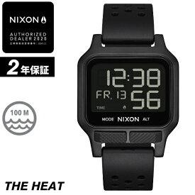 NIXON ニクソン 腕時計 THE HEAT - All Black - A1320-001 ヒート オールブラック デジタル時計 100M/10気圧防水 メンズ サーフィン アウトドア 誕生日 クリスマス プレゼント 【あす楽対応】