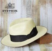 パナマ帽メンズ麦わら帽子送料無料【STETSON】ステットソンサイズ調節可能パナマ帽メンズ麦わら帽子春夏おしゃれダンディストローハット大きいサイズ59cmL紳士帽子おすすめ