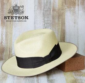 パナマ帽 メンズ 麦わら帽子 送料無料【STETSON】ステットソン サイズ調節可能 パナマ帽 メンズ 麦わら帽子 春 夏 おしゃれ ダンディ ストローハット 大きいサイズ 59cm L 紳士 帽子 おすすめ