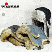 送料無料!《スウェーデン/ヴィゲーンズ/wigens/パイロットキャップ/防寒帽子》ラビットファー×ナイロンパイロットキャップ/メンズ/レディース/帽子/フライトキャップ/飛行帽子【RCP】