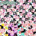 《生地》 桜と市松と猫 COSMO くろすろ〜ど 10cm CR8907