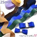 【DA】25mm [NEW] 片面ベルベットリボン 2m 323-850