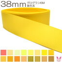 [K]38mm 《6m》 グログランリボン 黄色系
