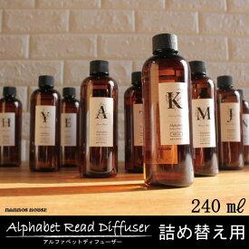 アルファベット/詰め替え用オイル/ルームフレグランス/芳香剤/アートラボ/リードディフューザー/おすすめ/アロマディフューザー/香り/レフィル/人気/ソングスオブネイチャー/詰め替えボトル