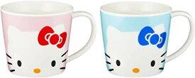 【ポイント3倍】サンリオ(SANRIO) 「 Hello Kitty(ハローキティ) 」 キティ フェイス ペア マグカップ 280ml ブルー&ピンク 506750