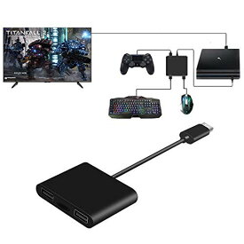 コンパクトキーボードマウス変換アダプタ  Nintendo Switch用 マウス キーボード接続用アダプタ   PS4用マウス キーボードコンバーター FPS、TPS、RPG と RTSのゲームに操作性アップ PS4/P