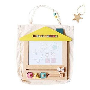 gg* (ジジ) oekaki house (おまけつき) 木製 お絵描き お絵描きボード おもちゃ (1歳 / 2歳 / 3歳) 男の子 女の子 誕生日 プレゼント