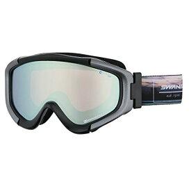 SWANS(スワンズ) ゴーグル スキー スノーボード 偏光レンズ ミラー タロン TALON-MPDH-C BK ブラック
