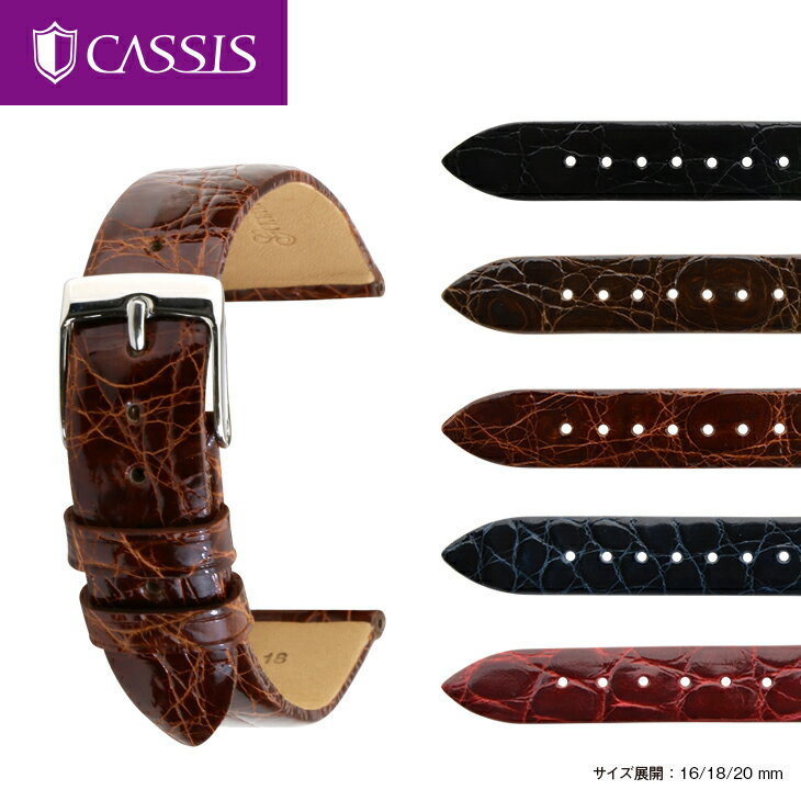時計ベルト 時計 ベルト カイマンワニ ワニ革 CASSIS カシス COLMAR コルマール u0000a72 16mm 18mm 20mm バンド 時計バンド 替えベルト 替えバンド 交換 | 腕時計 革ベルト 腕時計ベルト 腕時計バンド 本革ベルト ウォッチバンド 皮ベルト 腕時計用ベルト 時計用ベルト