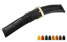 時計 ベルト 時計ベルト アリゲーター U1600 16mm 17mm 18mm 19mm 20mm 22mm 24mm バンド 時計バンド 替えベルト 替えバンド ベルト交換 簡単ベルト交換用工具付 | 腕時計ベルト 革ベルト 高級 腕時計バンド 本革 腕時計 腕時計用ベルト 革 ワニ革 時計のベルト