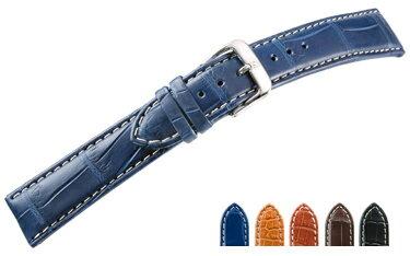 時計 ベルト 時計ベルト アリゲーター U1603 18mm 20mm 22mm バンド 時計バンド 替えベルト 替えバンド ベルト交換 | 腕時計 革ベルト 腕時計ベルト ブランド メンズ 高級 本革 腕時計バンド ウォッチバンド 本革ベルト ベルトだけ 通勤 腕時計用ベルト 時計用ベルト