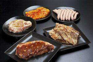 豪快本格派!ステーキバーベキュー5種セット (牛・豚・鶏・ハラミ・ウインナー) 約2kg 4〜7名用