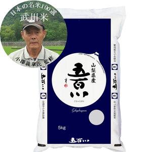 【まとめ買い】日本の名米100選 令和元年産武川米 五百川 小澤義章 監修 白米5kgx4袋 玄米/無洗米加工/米粉加工/保存包装 選択可