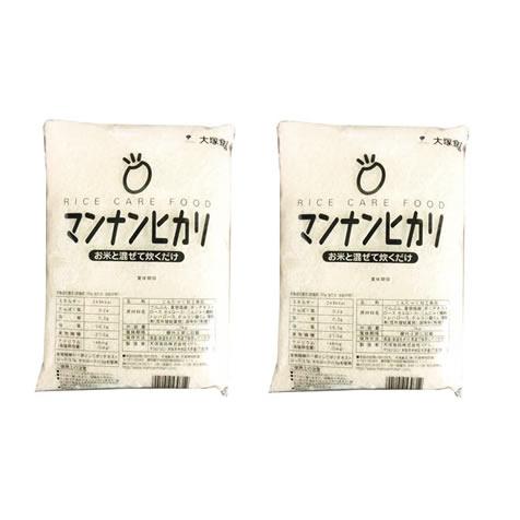 【送料無料】業務用マンナンヒカリ 1kg 2袋セット