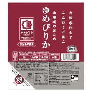 【まとめ買い】☆ちょっと人気なごはん☆ ふんわりごはん北海道産ゆめぴりか200gx48個(2ケース販売)