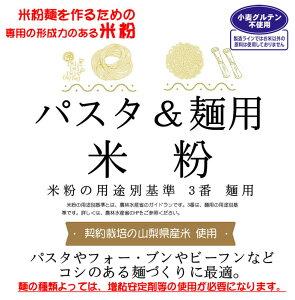 麺用米粉 (山梨県米使用) 2kgx1袋 コシのある米粉麺やパスタづくりに使用できます。