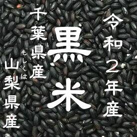 新米 令和2年産 黒米 千葉県/山梨県産 10kg
