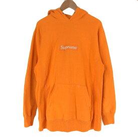 Supreme シュプリーム ボックスロゴパーカー オレンジ XL 【中古】